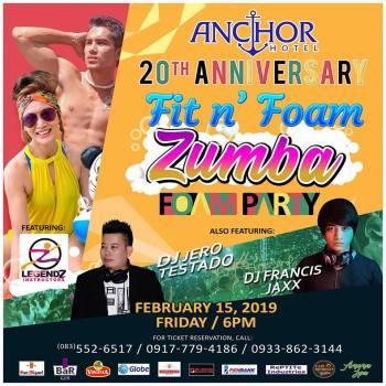 Anchor Hotel Zumba Foam Party