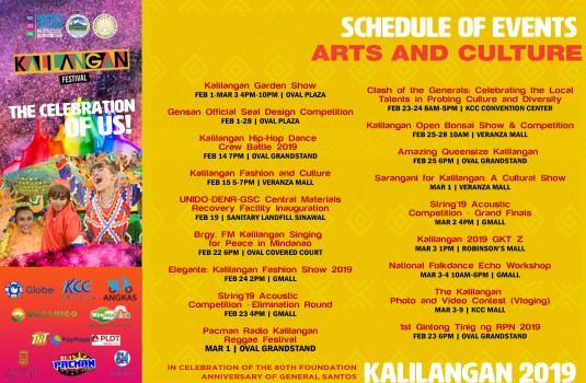 KALILANGAN ARTS & CULTURE EVENTS