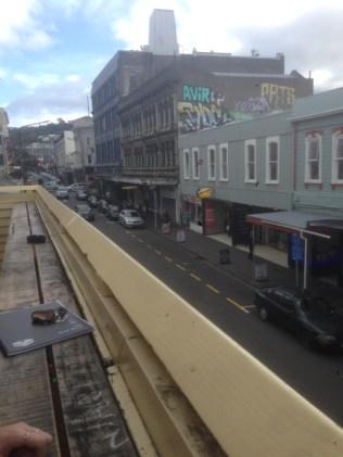 San Fran Street View From Balcony, Cuba Street, Gen Porter