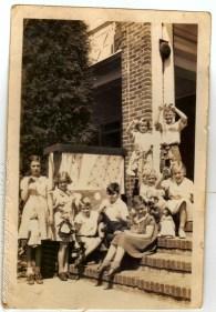 Don Mitchel, Blanch Hicks, Clair Koonts, Dorothy Williams, Edward Murry (?), Hellen Fry, Kay Brine, Nancy Carter, Vone Mclaster - Irving Park School Group, 1937 - 1938 School Year