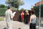 Fernando (director) y Marta (realizadora) preparando secuencia con Loles (Jose Cobrana) y Marisa (Roma Calderón)