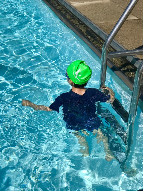 kid in the pool