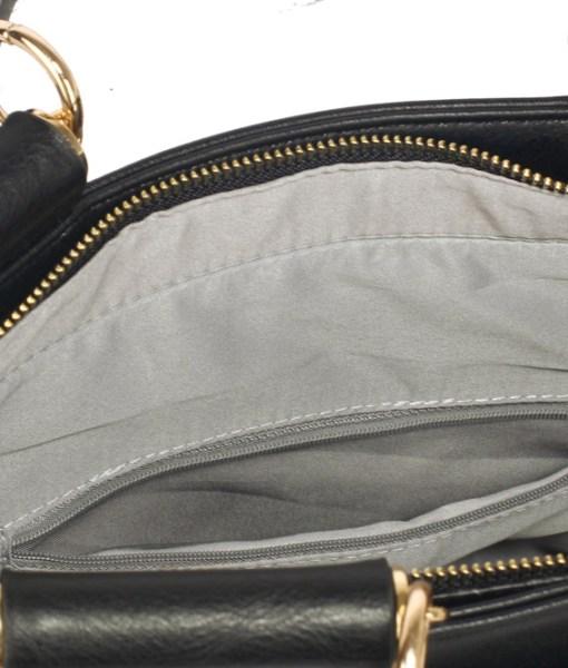 Geanta dama Luana - negru cu nude - geanta grab