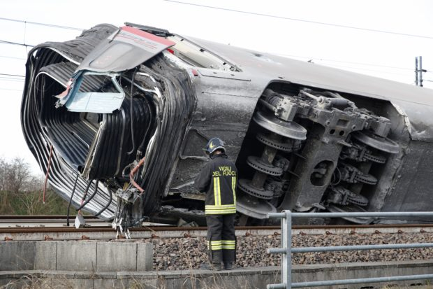 High-speed train derails in northern Italy, killing two and injuring dozens