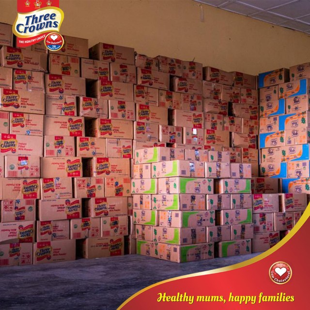 Three Crowns Milk response to COVID-19: A Privilege To Support Our Communities With Relief ackages for over 11,000 families