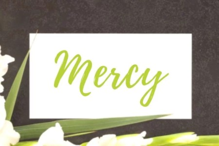 image of mercy and flowers