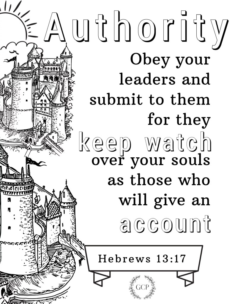 image of authority bible verse coloring page
