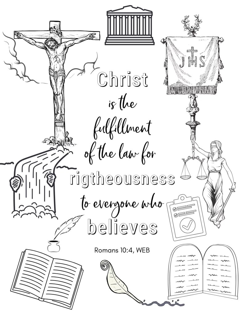 image of Righteousness Bible Verse Coloring Page