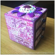 Decorating A Set Of MDF Drawers With Craftwork Cards Paper - 13