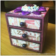 Decorating A Set Of MDF Drawers With Craftwork Cards Paper - 9