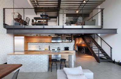 Industriálny štýl použitý v dome