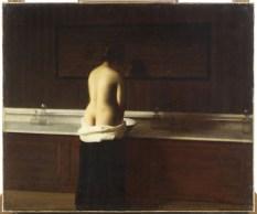 Eugène Lomont, Jeune femme à sa toilette, 1898