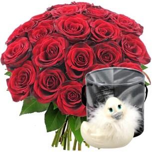 offrir fleurs saint valentin canard vibrant