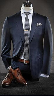 Classic Suit And Wingtip Shoes Style