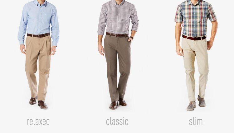 Pants fit comparison
