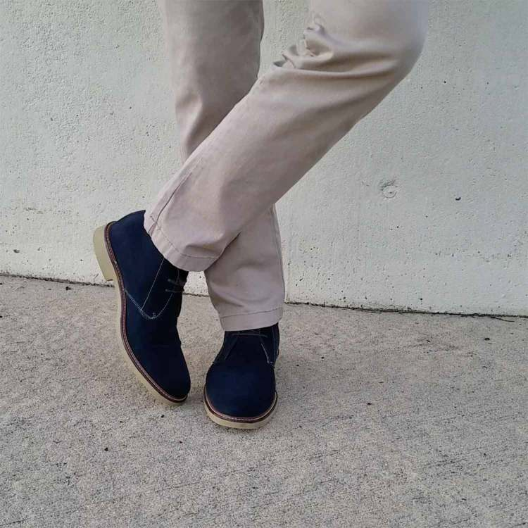 Navy Suede Chukka Boots | GENTLEMAN WITHIN