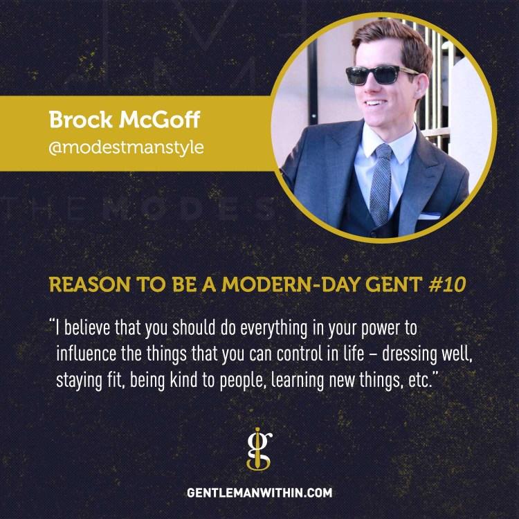 Brock McGoff Reason To Be A Modern-Day Gentleman