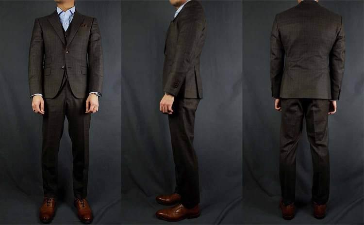 black lapel suit fit