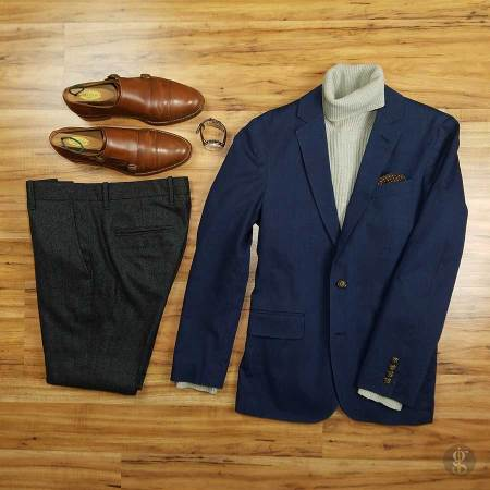 How To Wear A Navy Blue Blazer In The Winter | GENTLEMAN WITHIN