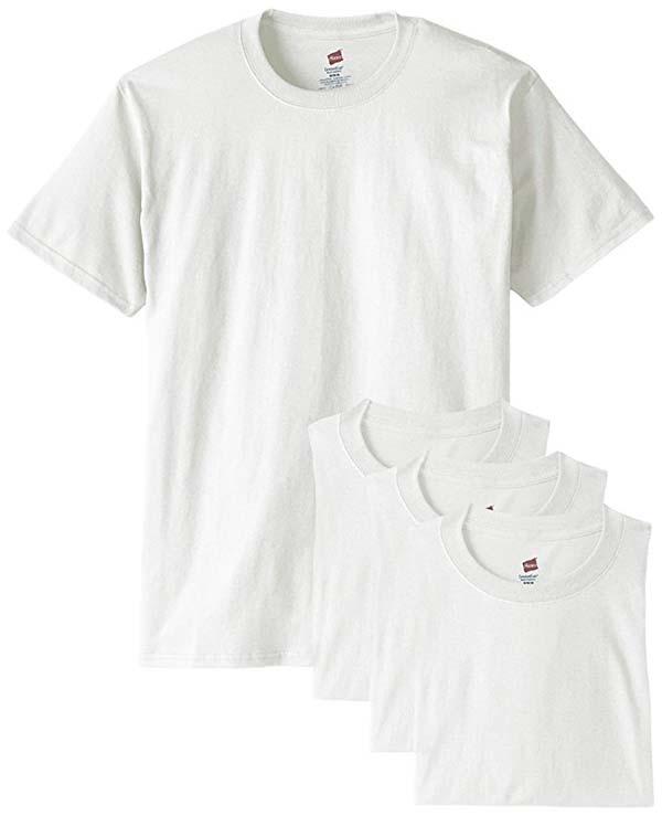 Ribbed T White Crewneck T-Shirt