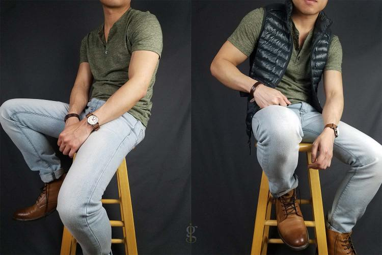 Henley (y-neck) and vest outfits   GENTLEMAN WITHIN