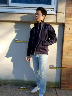 Harrington Jacket And Light Wash Denim | GENTLEMAN WITHIN