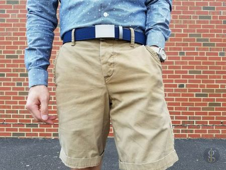 Anson Navy Canvas Belt | GENTLEMAN WITHIN