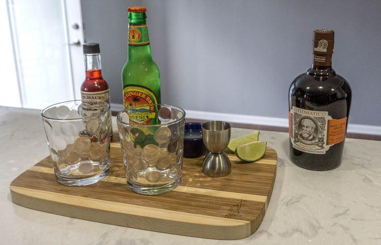 The Dark Storm Cocktail Set-up