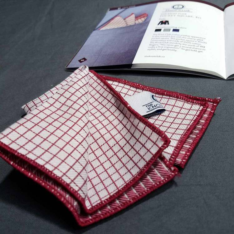 The Knot Club Pocket Square   GENTLEMAN WITHIN