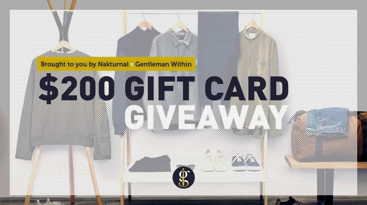 Gift Card Giveaway | GENTLEMAN WITHIN