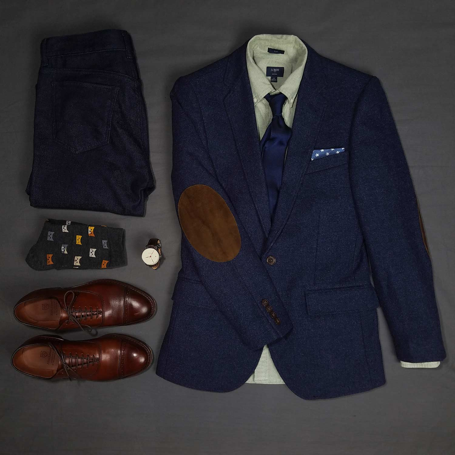Wearing Jeans To The Opera Flatlay   GENTLEMAN WITHIN