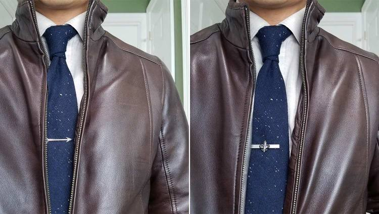 Look 4: Leather Jacket FleurDeLis And Arrow Tie Bar | GENTLEMAN WITHIN
