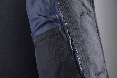 Waterford Navy Car Coat Lining   GENTLEMAN WITHIN