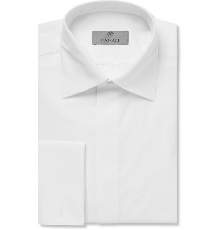 A white button up for the groom.
