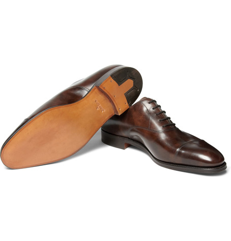 Dark brown lace up's by John Lobb.
