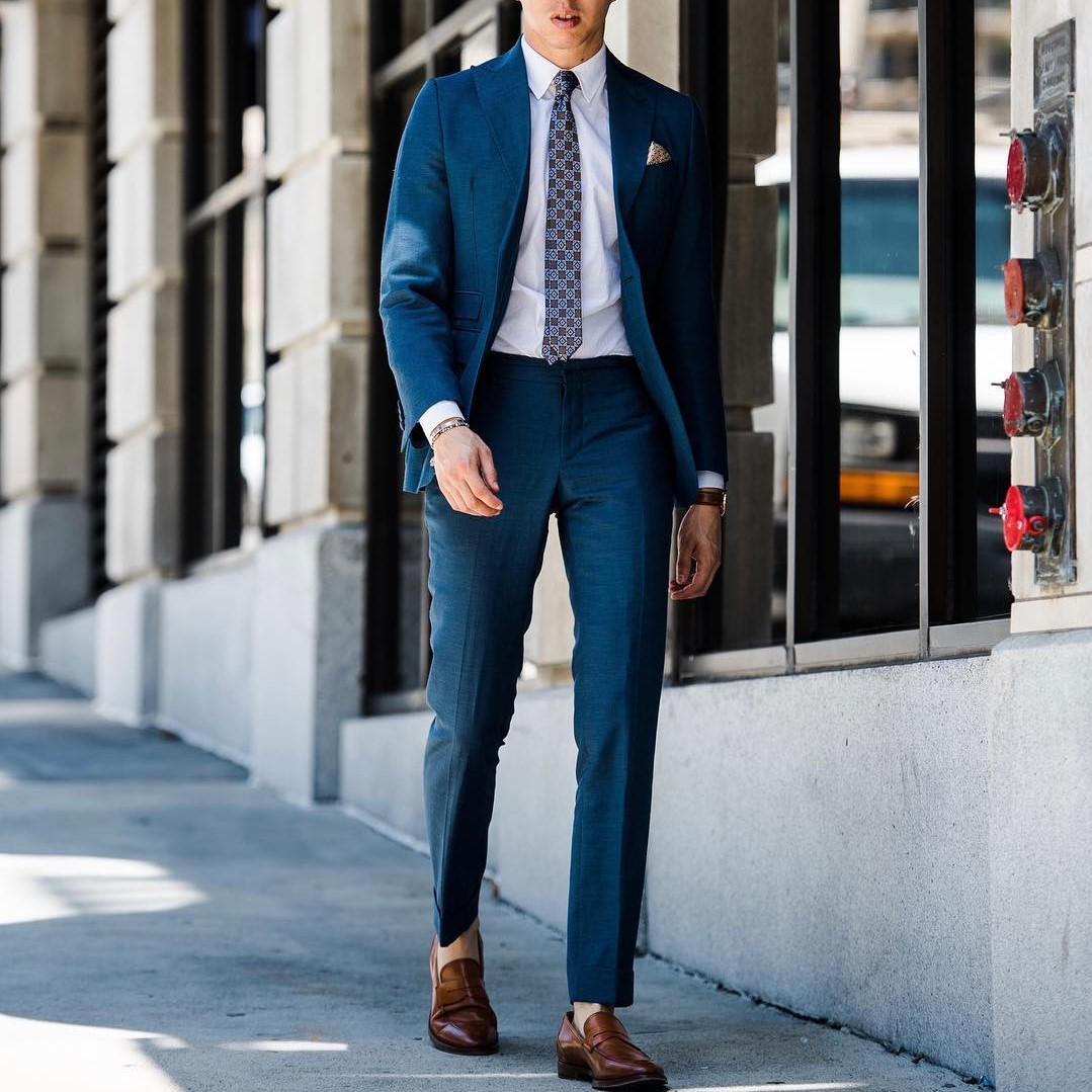 Suit and tie outfit by Blake Scott
