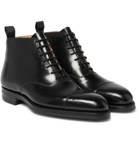 GEORGE CLEVERLEY William Cap-Toe Horween Shell Cordovan Leather Boots