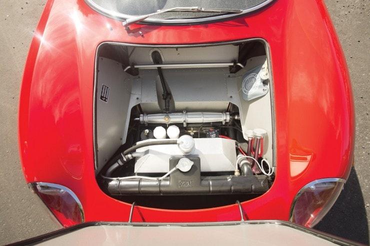 The bonnet of the 250 LM Ferrari