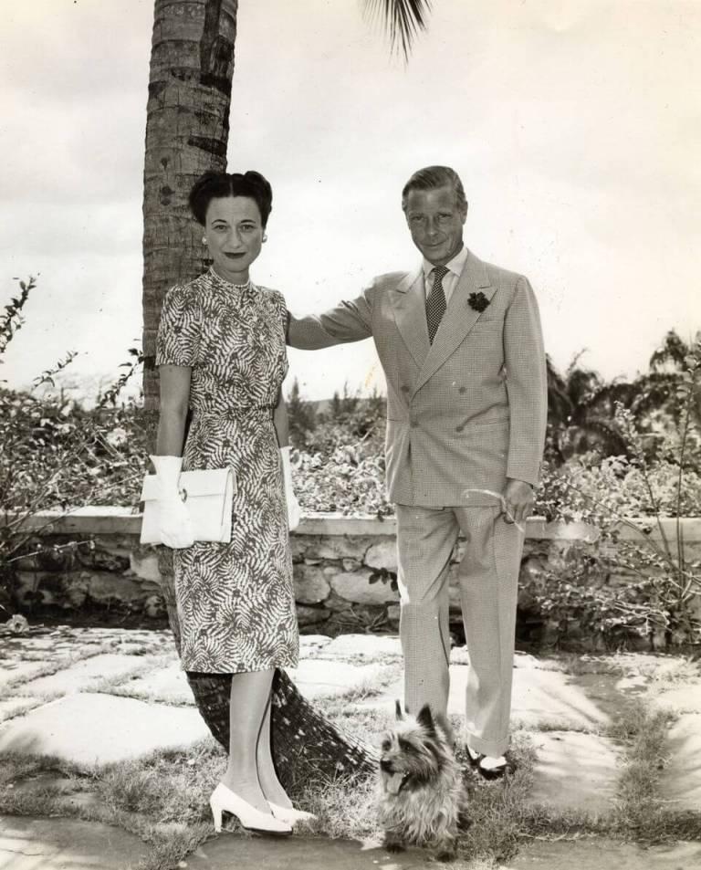 The Duke and Duchess on a walk.