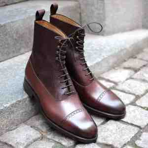 Two tone Balmoral Boot by Carlos Santos