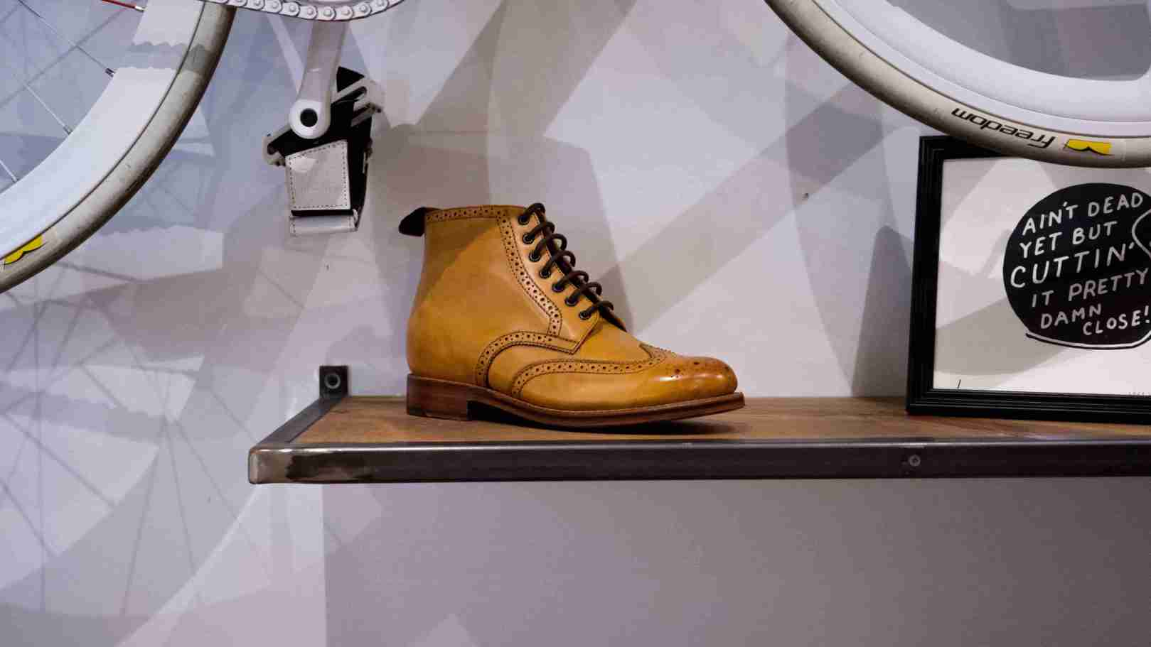 Leather Winter Boot on a Shelf