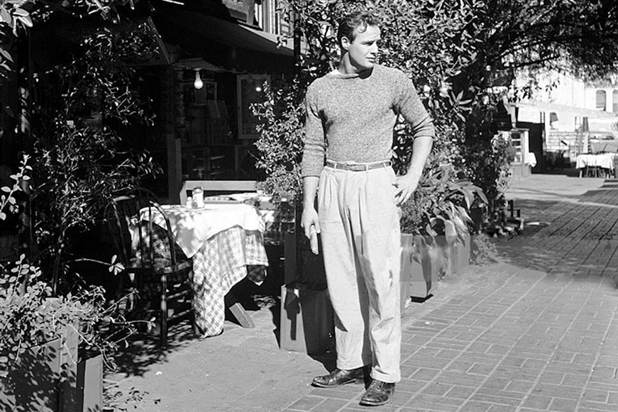 Marlon Brando wearing autumn boots.