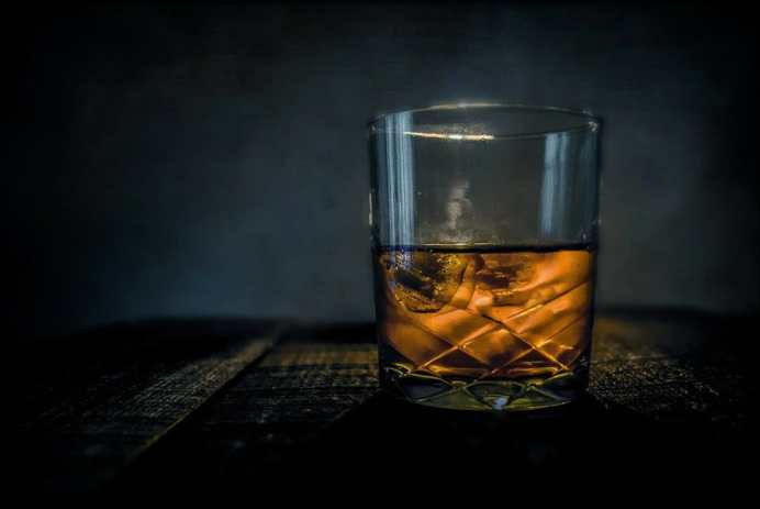 A glass of French whiskey