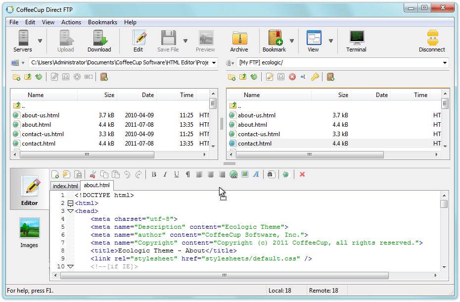 Direct FTP manager