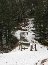 Stairway entry up to Ice Age trail.