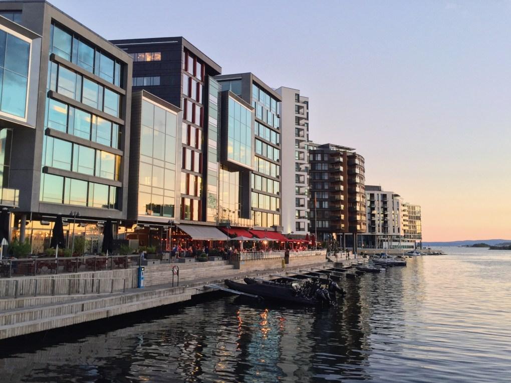 Sunset by Aker Brygge, Oslo