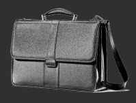 servieta neagra din piele naturala, geanta barbateasca de tip office, SAMSONITE black leather briefcase.