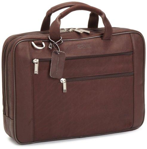 geanta piele, servieta maro, genti laptop 17''
