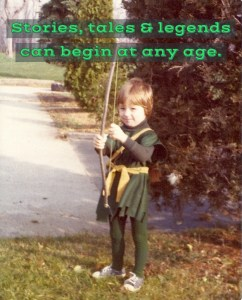 Four-year-old Gentry Bronson dressed up as Robin Hood