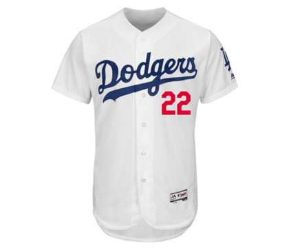 detailed look 87d54 9dd41 Majestic   Los Angeles Dodgers   Clayton Kershaw   Home   Flex Base   White    Gent's & G's